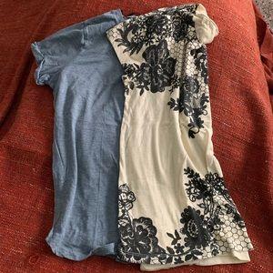Large Express and Medium H&M T-shirt
